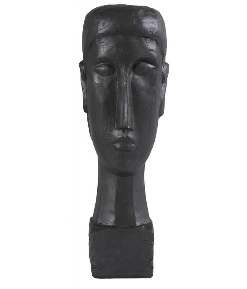 Statue Totem Visage 12x12.5xH38.5cm - Athezza