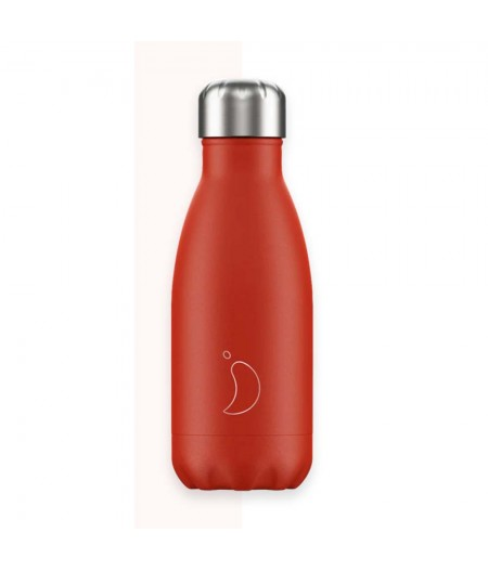 Gourde Thermos Pastel 260ml Neon Red Chilly's Bottle