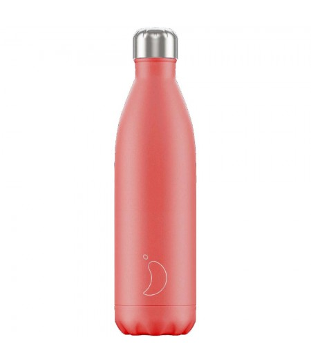 Gourde Thermos Pastel 750ml Coral - Chilly's Bottles