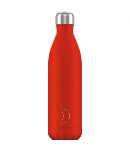 Gourde Thermos 750ml Neon Red - Chilly's Bottles