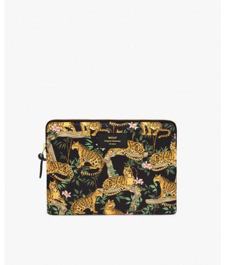 Housse iPad Black Lazy Jungle iPad Sleeve - Wouf