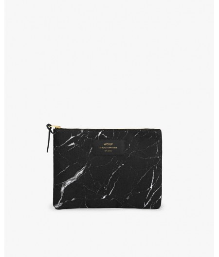 Pochette large Black Marble Large Pouch - Wouf