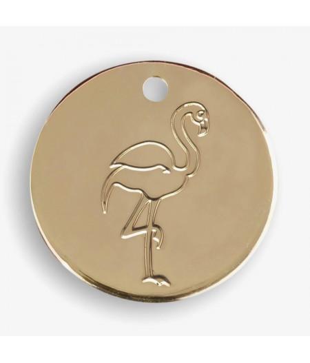 Médaille dorée Flamant - Le Bijou de Mimi