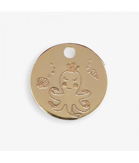 Médaille dorée Octopus - Le Bijou de Mimi