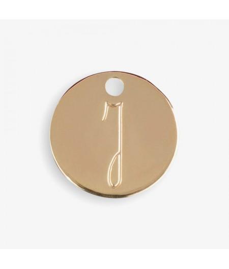Médaille dorée J - Le Bijou de Mimi
