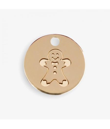 Médaille dorée Bonhomme - Doré - Le Bijou de Mimi