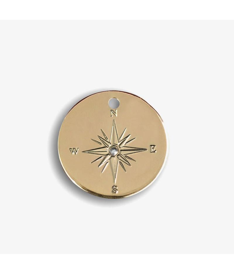 Médaille dorée Compass - Le Bijou de Mimi