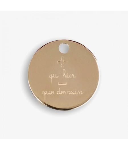 Médaille dorée  +/-  Le Bijou de Mimi