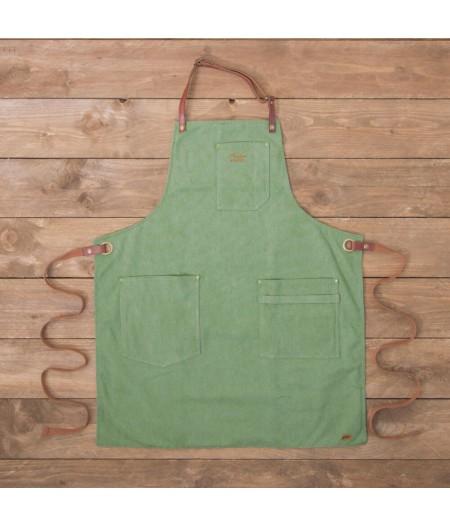 Tablier N°325 (Coton vintage) - Vert Menthe - Alaskan Maker