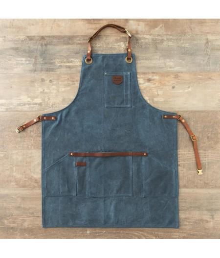 Tablier N°547 (Coton waxé) - Bleu Canard - Alaskan Maker