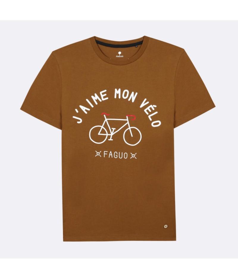 Arcy T-Shirt Cotton J'aime mon vélo - BRO08 - Faguo