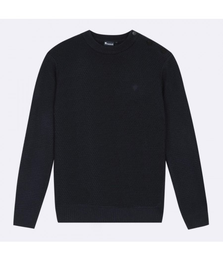 Pull laine col rond Lucio Sweater Wool - NAV05 - Faguo
