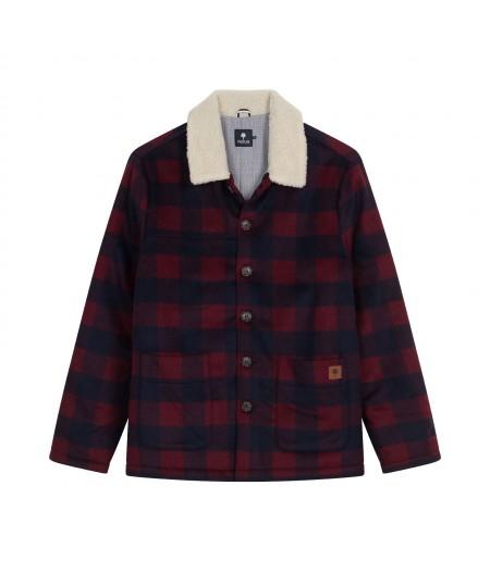 Lorge Jacket Wool Burgundy Faguo