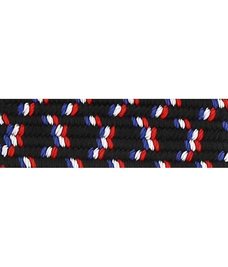 Ceinture Tricolore en Nylon Black Blanc Rouge - Faguo