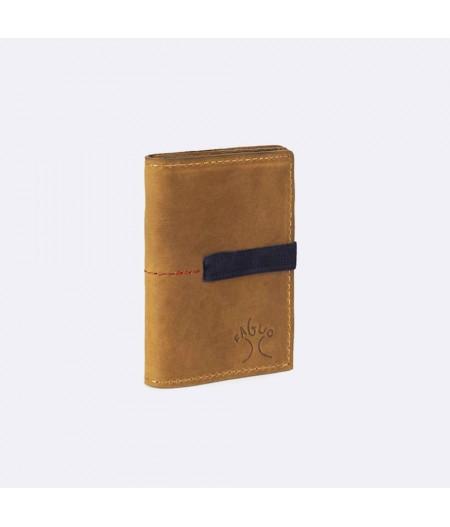 Porte-monnaie en cuir, elastiqué – Wallet Elastic Leather - Faguo