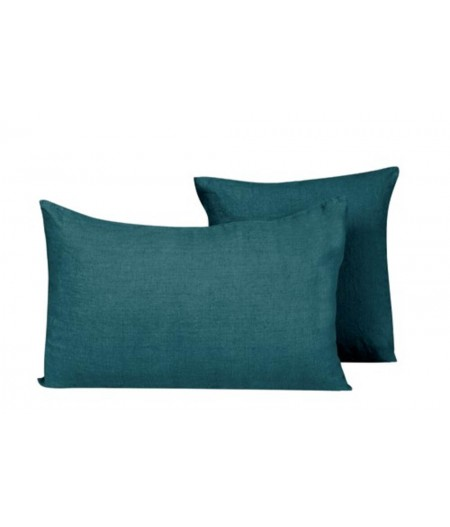 copy of Coussin en lin Propriano Prusse Harmony 45x45 cm