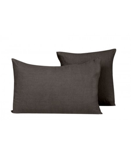 Coussin en lin Propriano charbon Harmony 45x45 cm