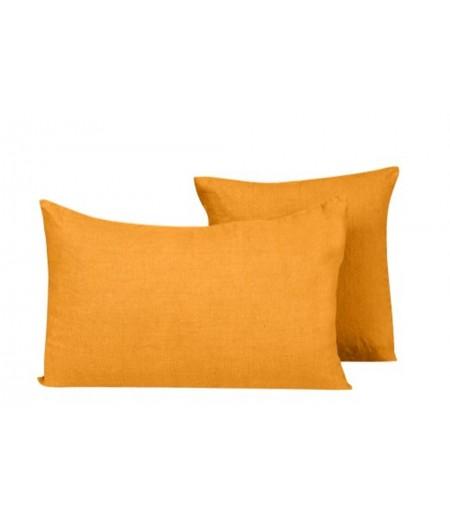 Coussin en lin Propriano safran Harmony 45x45 cm