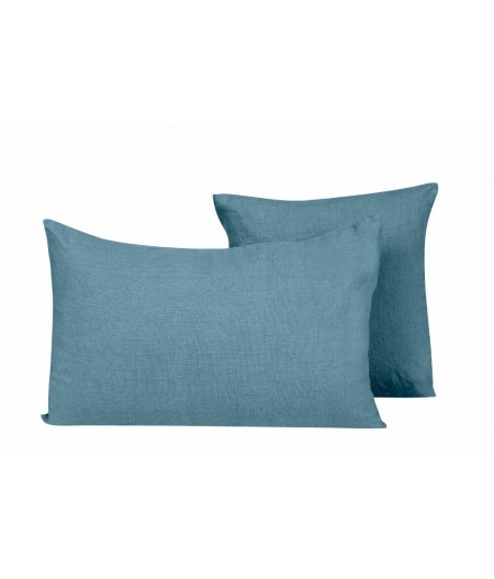 Coussin en lin Propriano blue stone Harmony 45x45 cm