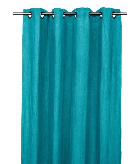 Rideau en lin 140 x 280cm Aqua
