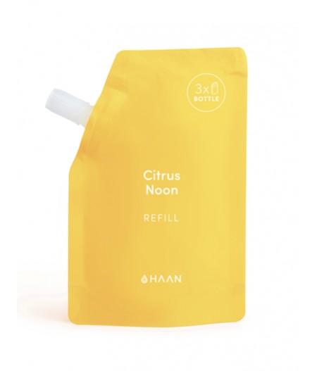 HAAN Pouch Citrus Noon - Recharge pour Spray désinfectant hydratant pour les mains à l'aloé vera
