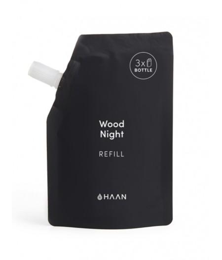 HAAN Pouch Wood Night - Recharge pour Spray désinfectant hydratant pour les mains à l'aloé vera