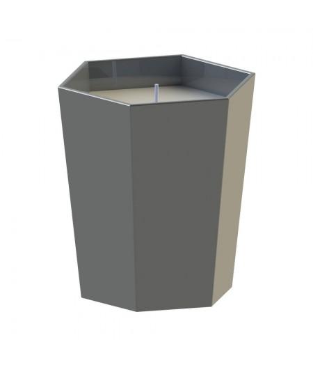 Bougie Parfumée Lund London - Dark Grey - Amber & Cedarwood - Skittle Lidded Candle
