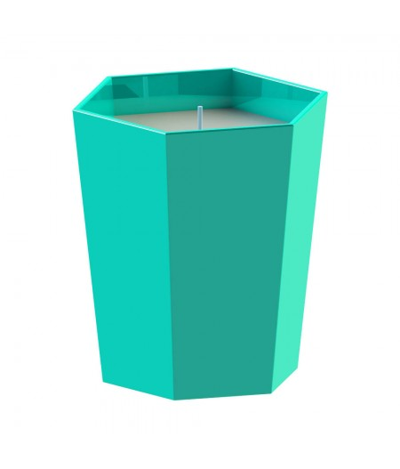 Bougie Parfumée Lund London - Turquoise - Citrus Amberwood - Skittle Lidded Candle