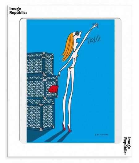 10.5x15 Soledad Taxi - Carte Postale double avec enveloppe - Image Republic