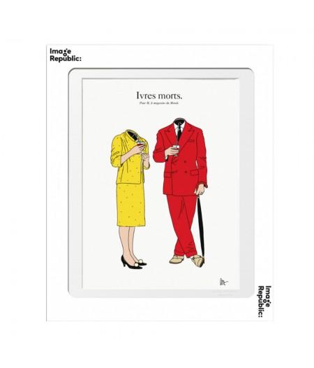 10.5x15 TIXIER Ivres Morts - Carte Postale double avec enveloppe - Image Republic