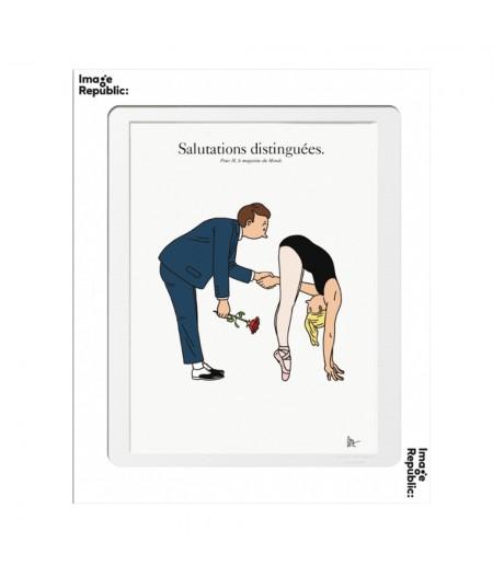 10.5x15 TIXIER Salutations - Carte Postale double avec enveloppe - Image Republic