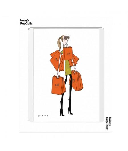 10.5x15 Soledad Sac Orange - Carte Postale double avec enveloppe - Image Republic