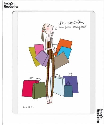 10.5x15 Soledad Shopping - Carte Postale double avec enveloppe - Image Republic