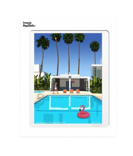 10.5x15 PAULO MARIOTTI Palm Springs - Carte Postale double avec enveloppe - Image Republic