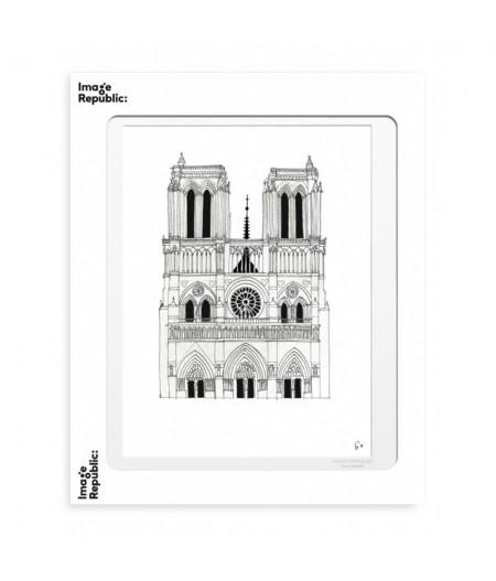 40x50 cm WLPP PARIS NOTRE DAME - Affiche Image Republic
