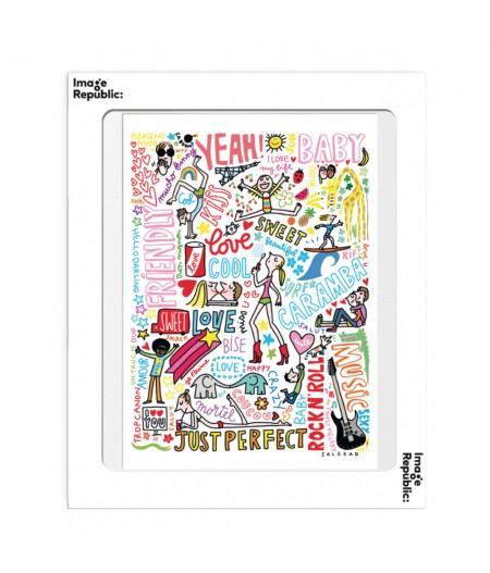 10.5x15 Soledad Graffitis - Carte Postale double avec enveloppe - Image Republic
