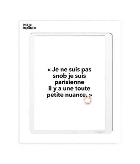 10.5x15 Loïc Prigent 53 JE NE SUIS PAS SNOB - Carte Postale double avec enveloppe - Image Republic