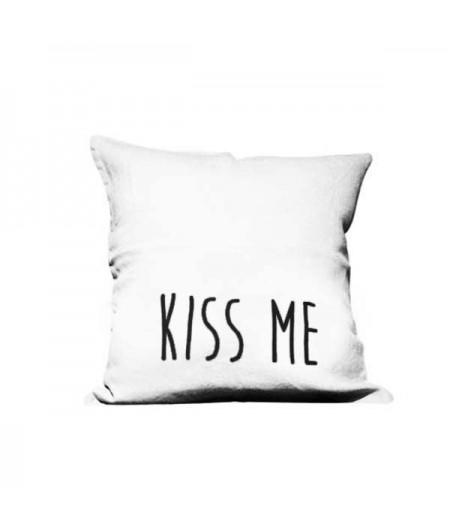Coussin en lin 45x45cm Kiss Me / Rock Me by L'Ornitho
