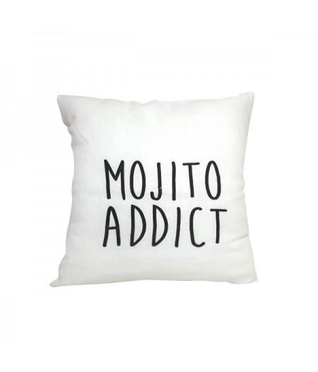 Coussin en lin 45x45cm Mojito addict by L'Ornitho