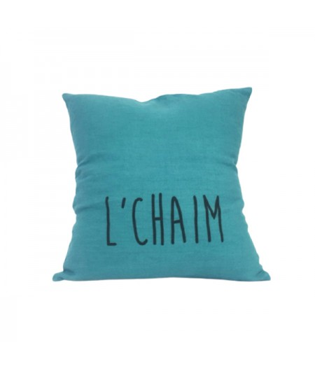 Coussin en lin 45x45cm L'Chaim by L'Ornitho