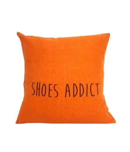 Coussin en lin 45x45cm Shoes addict by L'Ornitho