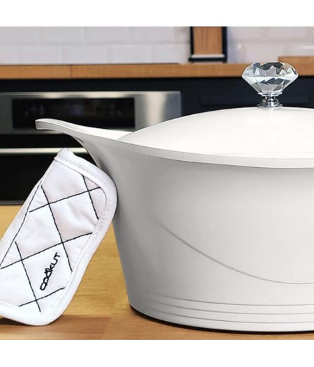 Cocotte Blanche 28 cm en fonte d'aluminium - Cookut