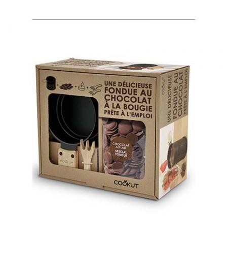 Set Fondue au chocolat pour 2 personnes 150 gr de chocolat au lait (NOUVEAUTES 2021)