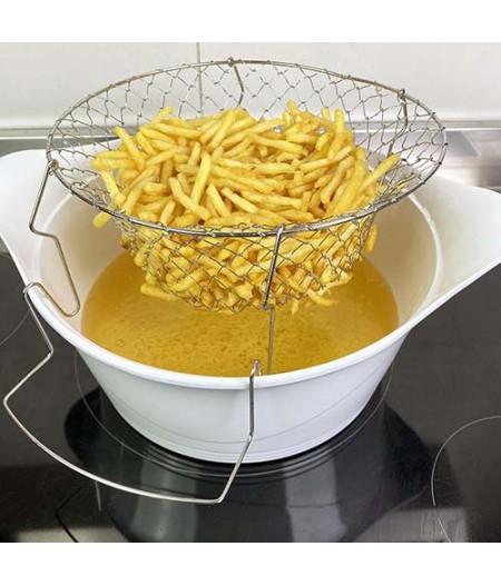 Panier friture pliable 28 cm – Cookut