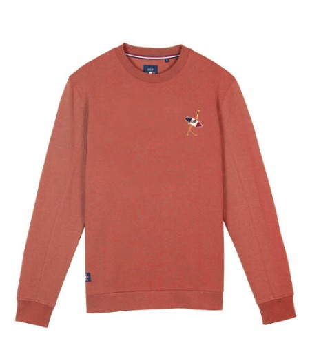 Sweat Col Rond Graphique - Paprika - Oxbow 1985