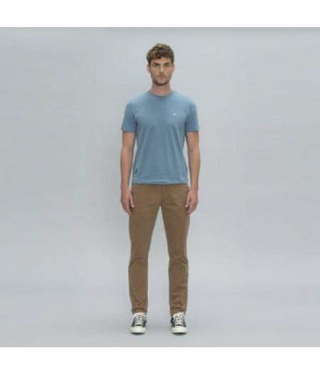 T Shirt bleu clair OXBOW 1985