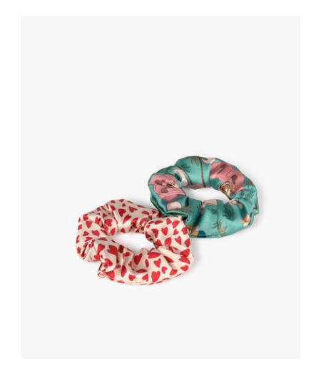 Chouchous White Hearts & Sahara - WOUF - Hair Scrunchies