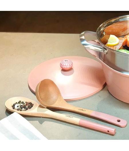 Set cuillère et louche en bois Rose- Cookut