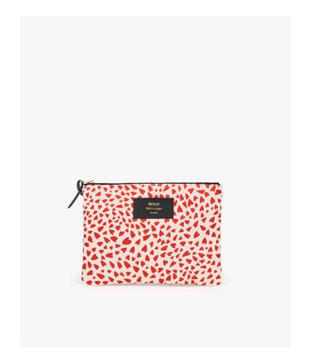 Pochette Large White Hearts - WOUF - Large Pouch