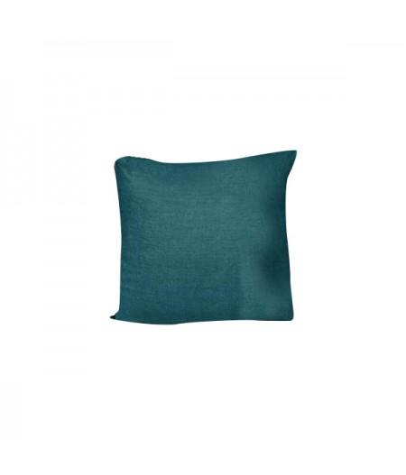 Coussin en lin Propriano Bleu de Prusse Harmony 45x45 cm